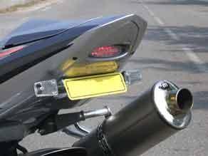 Heckinnenverkleidung mit LED-Rücklicht für Suzuki GSXR 1000 2003-