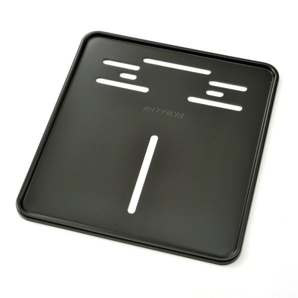 Kennzeichenhalteplatte Aluminium schwarz 180 x 200 mm zur Verstärkung deutscher Kennzeichen