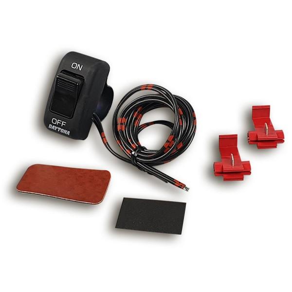 Lenkerschalter Ein/Aus schwarz universal für 22 mm Lenker