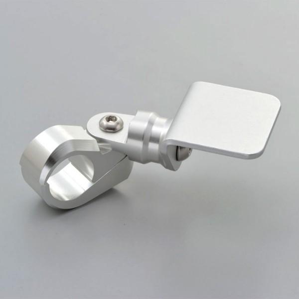 Lenkerhalter für Zusatzinstrumente für 22 mm Lenker silber