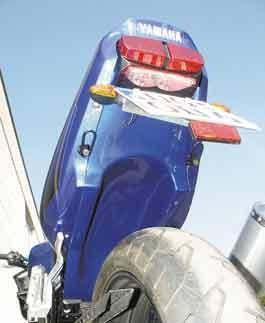 Heckinnenverkleidung Unlackiert für Yamaha FZS 600 Fazer 1998-2001
