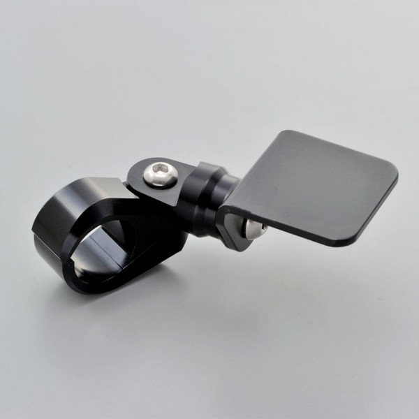 Lenkerhalter für Zusatzinstrumente für 22 mm Lenker aus schwarz eloxiertem Aluminium