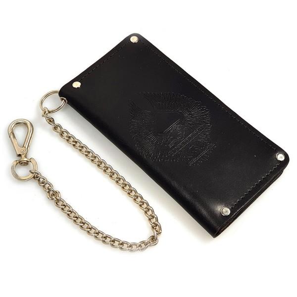 Biker Wallet Geldbeutel aus Leder mit Kette und Karabinerhaken