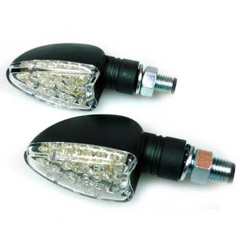 LED Miniblinker mit e-Prüfzeichen, Paar