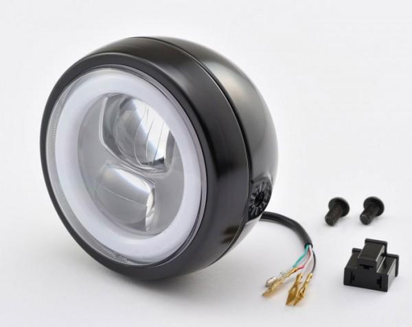 LED Scheinwerfer mit rundem Tagfahrlicht mit nur 120 mm und e-Prüfzeichen