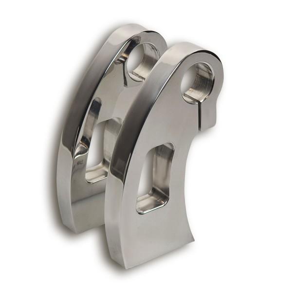 Alu-Riser Closed, 100 mm hoch mit 12 mm Aufnahmegewinde für Lenker mit 22 mm Durchmesser